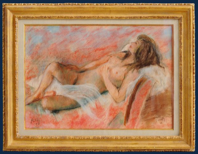 Reclining Nude Framed