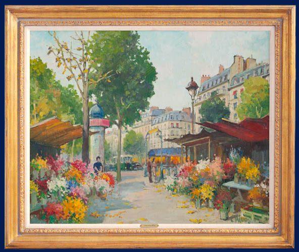 Les Fleurs en plein Paris Framed
