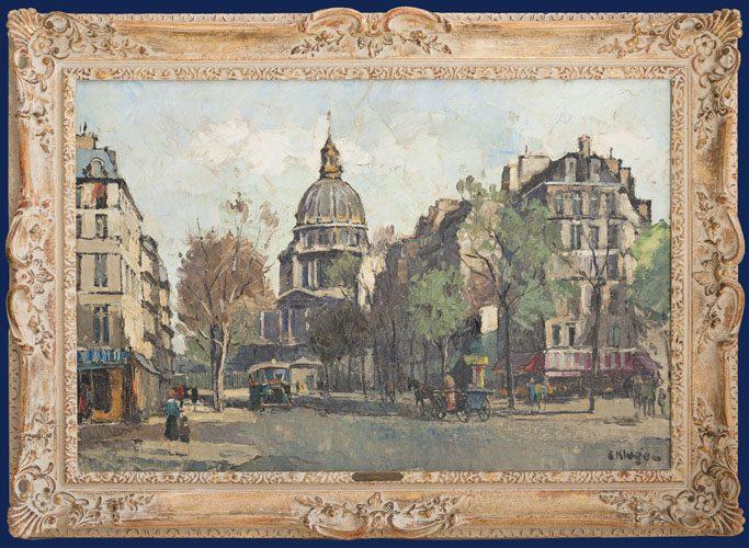 Le Quai et Notre Dame Framed