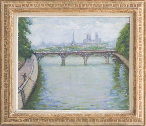 Along La Seine Framed