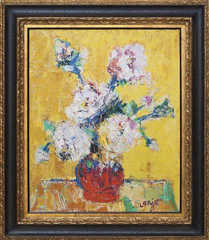 Vase de Fleurs Framed