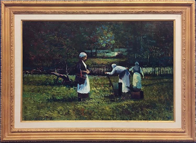 Three Women in the Field Framed