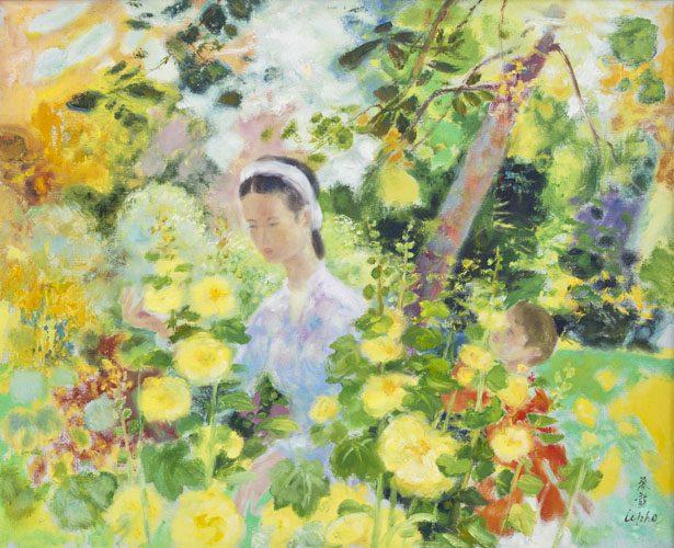 Les Roses Tremieres Jaunes (The Yellow Hollyhocks)