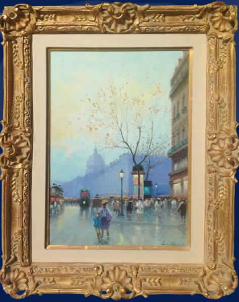 Paris Street Scene Framed