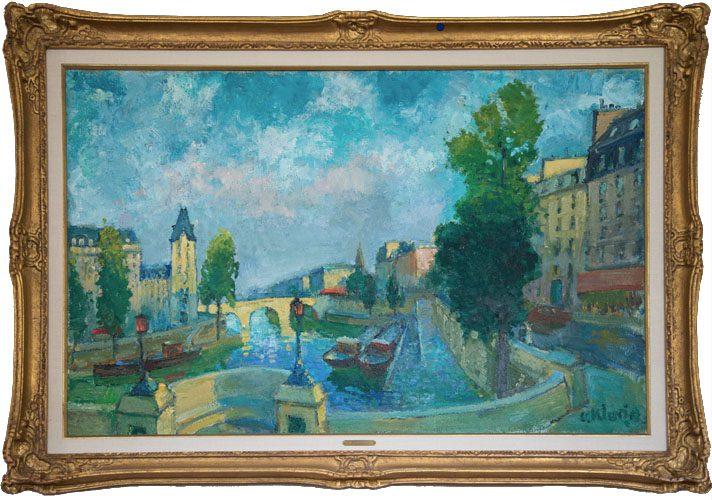Vue de Seine Framed