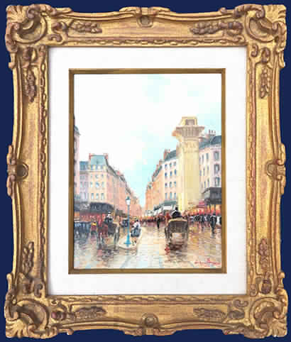 Paris Street Scene Framed