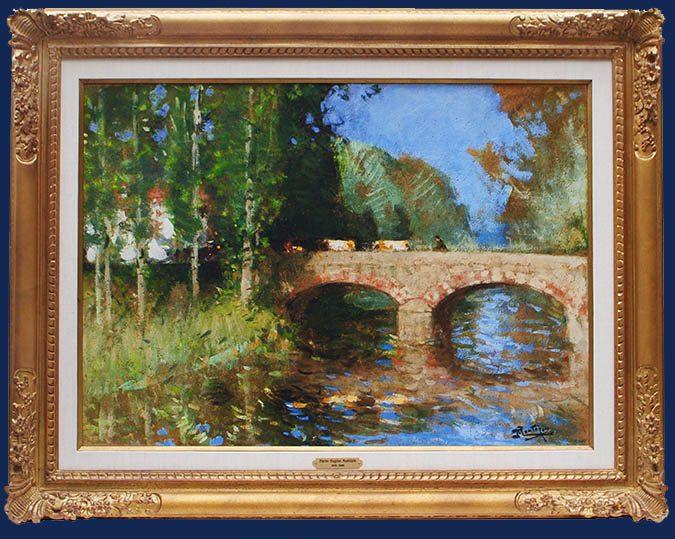 Le Pont sur la Riviere Framed