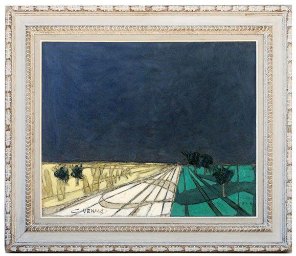 Paysage a la Vallee de Cheur-Euse Framed