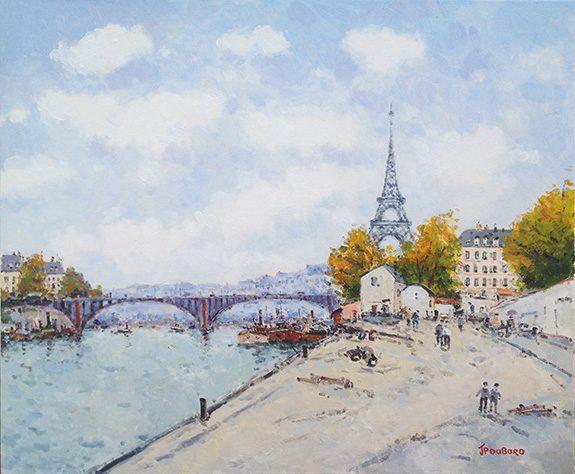 La Seine et Tour Eiffel -(sold)
