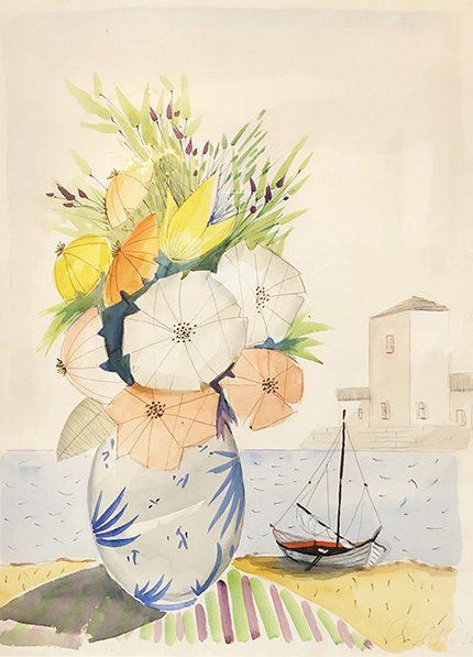 Bouquet de Fleur devant la Port