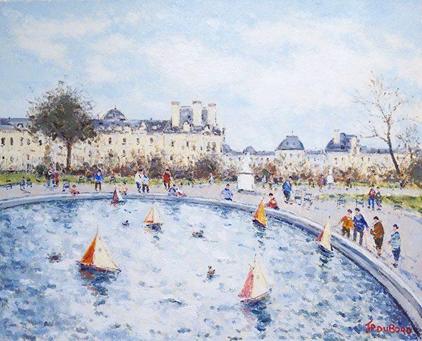Le Jardin des Tuileris et Louvre