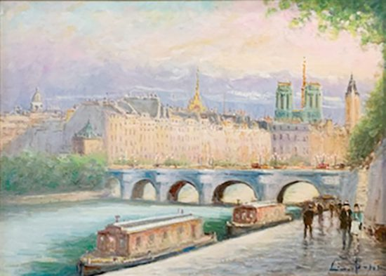 View of Notre Dame and Seine River