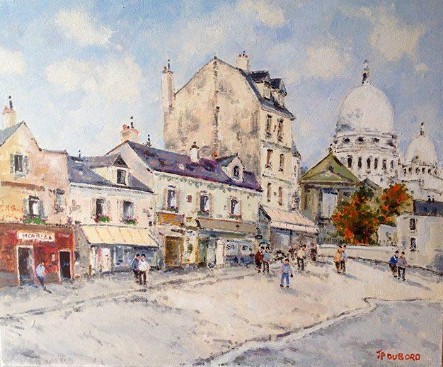 La Place du tertre a Montmartre (sold)
